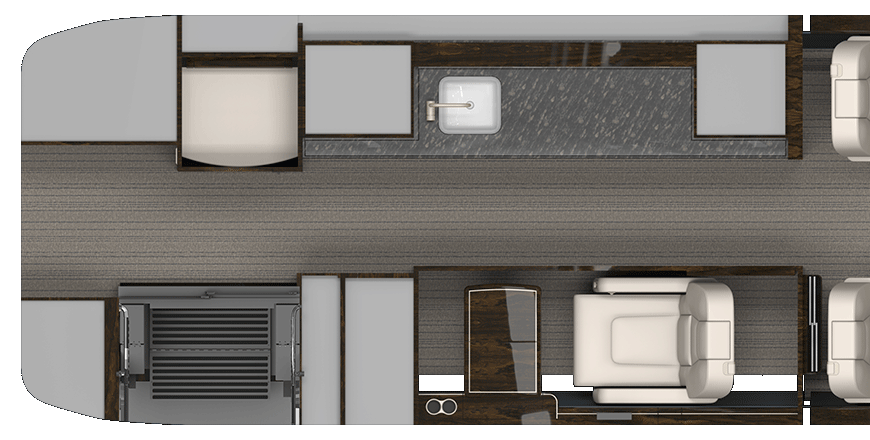 Forward Galley with Crew Compartment