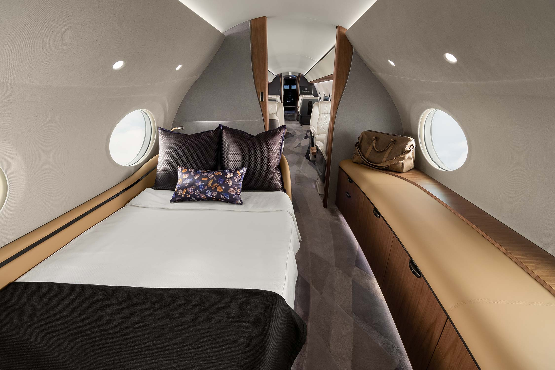 Sleeping quarters in a private airplane