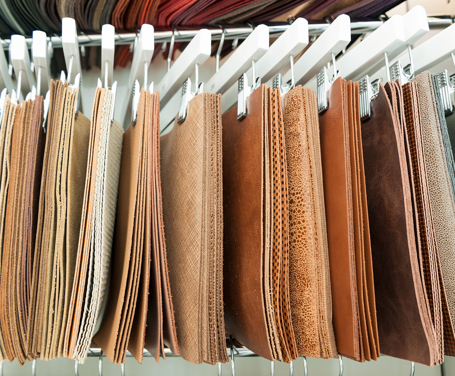 Swatches of luxurious leather.